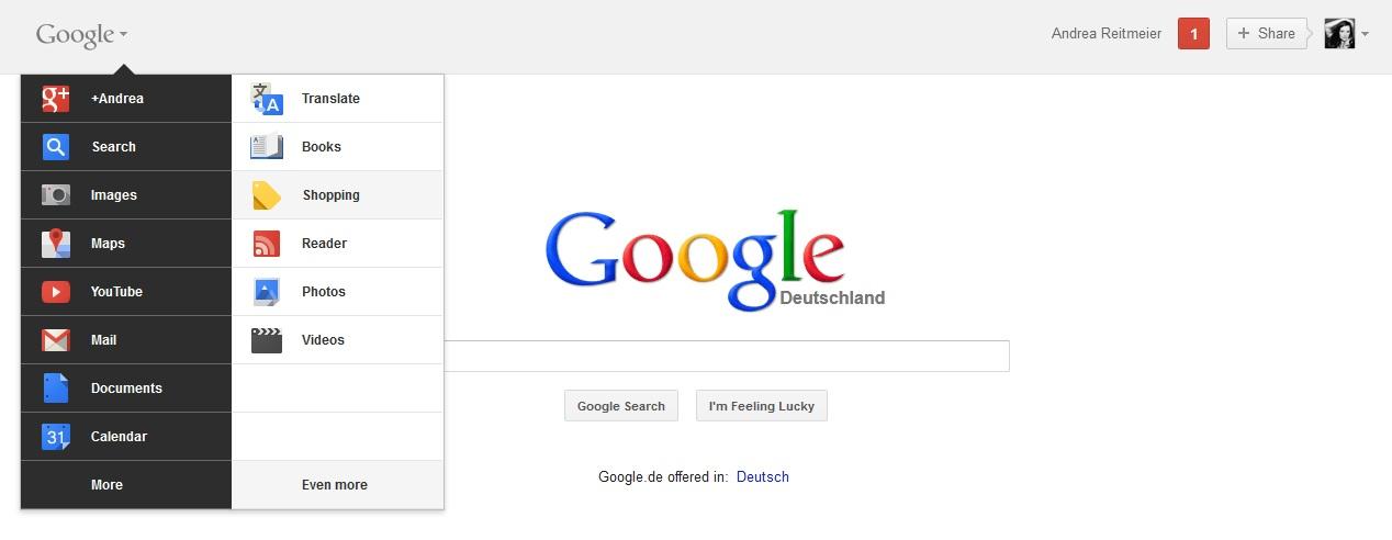 Die neue Google Bar