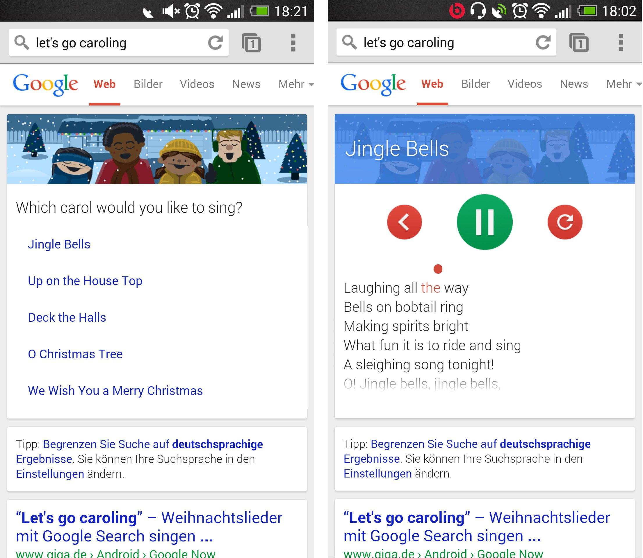 Google Easter Egg zu Weihnachten